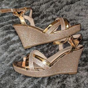 Rose Gold Dress Shoes/Wedges